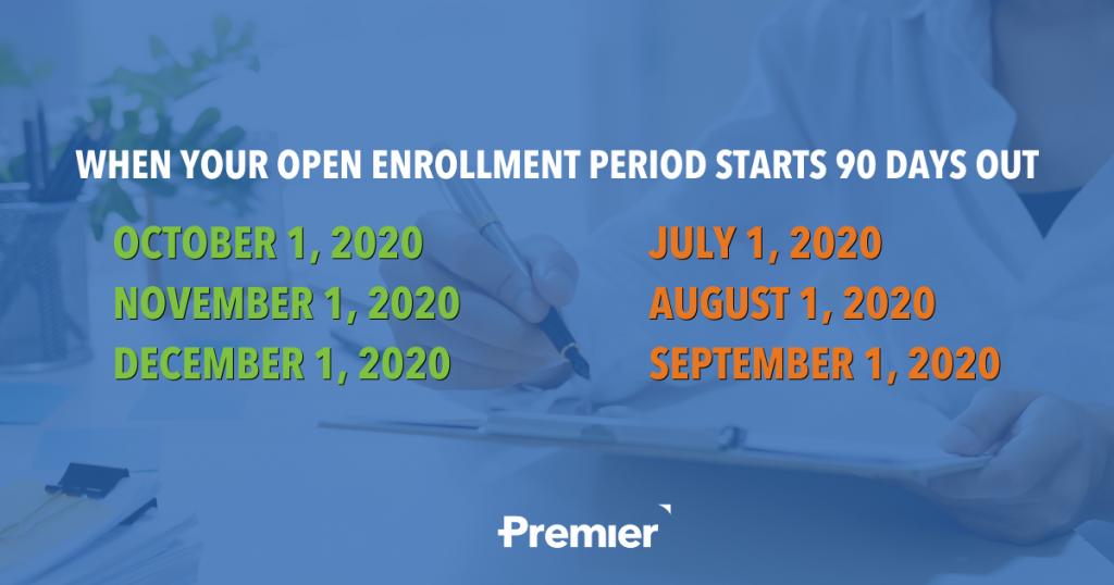 Open Enrollment 90 Day Timeline